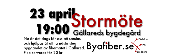 Byafiber - Stormöte 23 april 2013