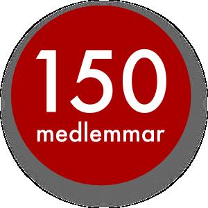 150 medlemmar