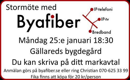 Byafiber - Stormöte 25 januari 2016