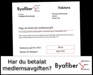 Har du betalat medlemsavgiften i Byafiber