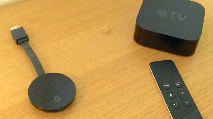 Google Chromecast Ultra och Apple TV 4 gen