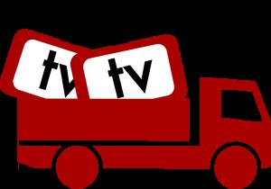 Lastbil med tv-paket