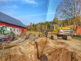 Fibergrävning vid Ljusverkstan i Gällard