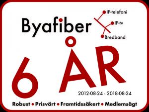 Byafiber fyller 6 år 2018-08-24