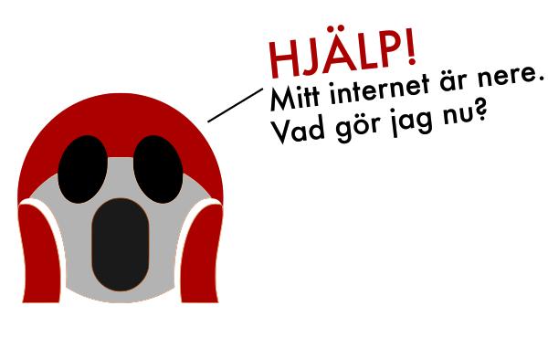 Hjälp! Internet ligger nere, vad gör jag nu?
